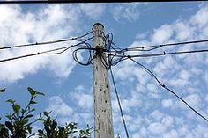 うちのうらにある電信柱 Transmission Line, Electric Power, Utility Pole