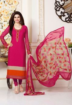 #Silkina Royal #Crepe #SalwarKameez Vol4 3488 Hot #Pink