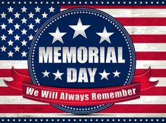 memorial day background vector