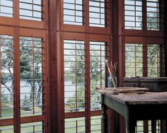 Nature's work of art, Heritance® hardwood shutters ♦ Hunter Douglas window treatments #HomeOffice