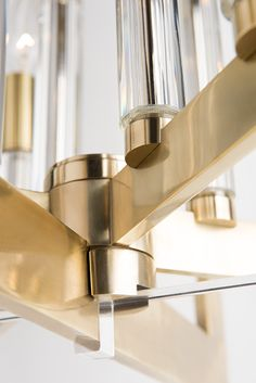 Acrylic meets brass in HVL's Wellington // Founder | Hudson Valley Lighting