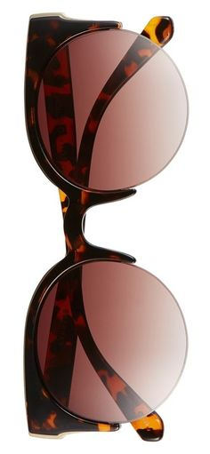2597e06484 Stay shaded this season with these chic sunglasses. Smoky gradient lenses  and a faux-tortoiseshell design create a sophisticated