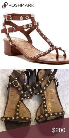 Size 8.5 brown studded Sam Edelman sandals Size 8.5 brown studded Sam Edelman sandals Sam Edelman Shoes Sandals