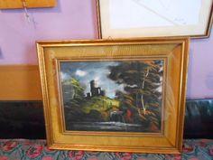 """The city of the rigattiere """"Il Rigattiere Del Futuro"""": Quadro olio su tela  firma Barlini tela 40 X 30 cm..."""