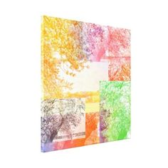 Colorful Abstract Tree Collage Canvas Print ($122) ❤ liked on Polyvore featuring home, home decor, wall art, art print, canvas photo, canvas print, multicolor, photo, colorful wall art and photo wall art