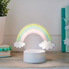 2-in-1 Unicorn & Rainbow USB Children's Light   Lights4fun.co.uk Rainbow Bedroom, Pile Aa, Acrylic Shapes, Usb, Baby Sensory, Shades Of Yellow, Light Table, Light Up, Playroom