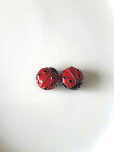 Ladybug Bead-Ceramic Bead-Large Ladybug Bead-Jumbo Bead-Large Hole-European Charm Bracelet Bead-Beading Supplies-Jewelry-Celestial Luxuries