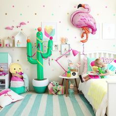 This kids room is perfection! I love all the colors and style inspiration.