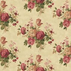 The Wallpaper Company, 8 in. x 10 in. Purple Cottage Rose Wallpaper Sample, WC1281314S at The Home Depot - Mobile