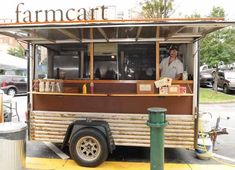 JOEFF DAVIS - STREET SMARTS: Farm Cart, the trailer owned by Athens' Farm was one of the vendors that took part in a street food fair at the Sweet Auburn Curb Market last month. Coffee Carts, Coffee Truck, Coffee Shop, Food Trucks, Catering Van, Coffee Trailer, Atlanta Food, Food Vans, Food Truck Design