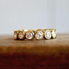 sarah perlis design eternity band (bezel set diamonds)... Love