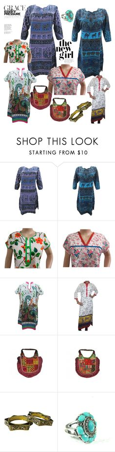 """""""Summer Printed Tunic"""" by era-chandok ❤ liked on Polyvore featuring tunic, sale, kurti, giftforher and bohemiantunic"""