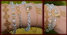 Mokobelle YES Swarovski beads and infinity gold