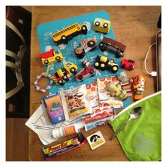 Toy bag filled for a 22 month old boy