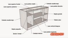 Plano y medidas como hacer un esquinero de cocina de for Minar muebles