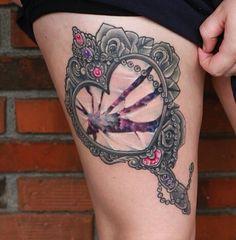 Hand mirror tattoo... neat as