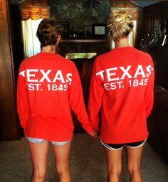Texas spirit long sleeve t-shirt lone star by CustomThreadsShop
