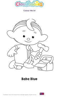 Baba Blue from Cloud Babies Baby Coloring Pages, Colouring Sheets, Coloring Books, Doll Toys, Dolls, Snoopy, Clouds, Babies, Children