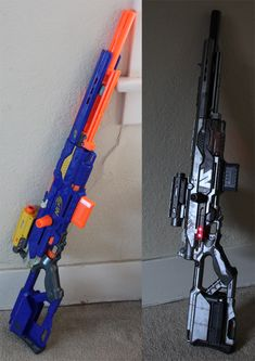 Click this image to show the full-size version. - Nerf Gun - Ideas of Nerf Gun Cosplay Weapons, Weapons Guns, Airsoft Guns, Nerf Snipers, Arma Nerf, Modified Nerf Guns, Pistola Nerf, Cool Nerf Guns, Nerf Mod