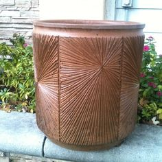 Earthgender outdoor planter - I love this color and style by David Cressey and Robert Maxwell