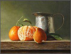 """Satsuma Oranges"" by David Stevenson, oil."