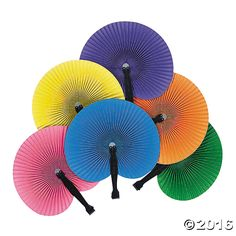 Colorful Folding Fans. Stay cool in style! These value-priced Colorful Folding Fans are a wonderful, and easy, way to brighten any spring or summer occasion. ...