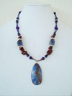 Boho Southwest Jewelry Chunky Stone Necklace by BohoStyleMe