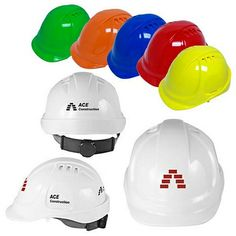 Promotional 6 Point Ratchet Suspension Vented Cap Style Hard Hat #hardhat #logo #business #advertising #promoproducts