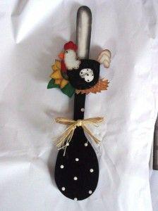 Colher de pau decorada 001