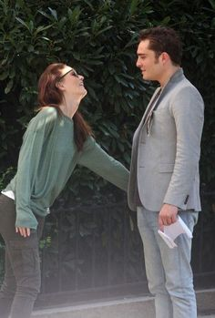 Leighton Meester and Ed Westwick #ChairGossipGirl