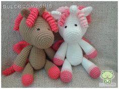 Unicornios amigurumi (30 cm. de alto) #Twins