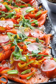Find seafood inspirations & meal ideas in Let's Eat. The Paleo Board is great way to add health benefits to nutrient-rich salmon. Black Sesame, Smoked Salmon, Fresh Lemon Juice, Easy Snacks, Caprese Salad, Baguette, Vegetable Pizza, Health Benefits, Cooking Tips