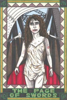 Twin Peaks Tarot Ronette Pulaski postcard PRINT. £1.89, via Etsy.
