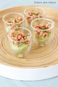 Koken met Jamie   Amuse van avocado & Hollandse garnalen - Koken met Jamie