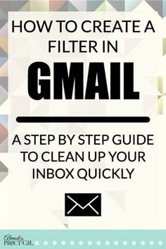 How to create a filter in Gmail - use these Gmail tips and hacks to organize your inbox quickly. Learn how to create a filter in Gmail. Use these Gmail tips to clean up your email inbox, and get to inbox to zero with this step by step guide. Life Hacks Computer, Computer Basics, Computer Help, Computer Tips, Computer Lessons, Computer Photo, Technology Hacks, Computer Technology, Computer Programming
