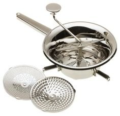 MIU FRANCE Stainless Steel Food Mill $36.95 TOTAL PRICE...LOWEST PRICE GUARANTEE...PICK UP OR WE WILL SHIP FREE WORLDWIDE...100% MONEY BACK SATISFACTION GUARANTEED...WEBSITE: www.shopculinart.com