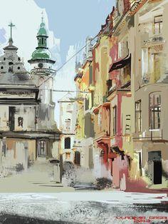 ukraine lviv street study