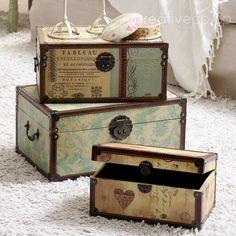 Kimberly Bird Trunks © Decorative Storage ★ Creative Co-Op Home