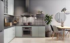 design trends 2021 - Google Search Small Apartment Layout, Small Apartment Interior, Small Apartments, Kitchen Interior, Kitchen Decor, Kitchen Ideas, Decorating Kitchen, Decorating Ideas, Small L Shaped Kitchens