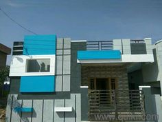 Image result for elevations of independent houses House Front Wall Design, Single Floor House Design, Village House Design, Kerala House Design, Modern House Design, Front Elevation Designs, House Elevation, Building Elevation, Exterior Colors