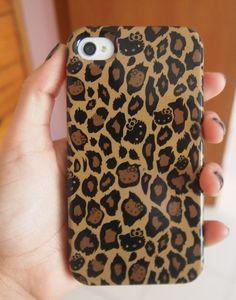 Hello Kitty cheetah print phone case