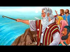 Moses parting the Red Sea by the power of God Moses Red Sea, Animated Bible, Crossing The Red Sea, Parting The Red Sea, Wall Of Water, La Sainte Bible, The Bible Movie, Christian Pictures, Comic Panels