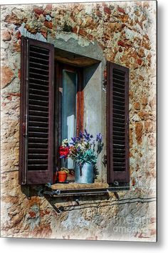 Tuscan Window Metal Print by Hanny Heim, Snowbird Photography