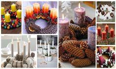 Így készíts gyönyörűséges adventi koszorút otthon | Pink Domina Recycling Ideas, Pillar Candles, Advent, Magazine, Table Decorations, Drinks, Toys, Clothing, Desserts