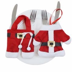 Christmas Coat & Pants Flatware Pouches/ Holders Set (2pc-set) - Large Size, 50% discount @ PatPat Mom Baby Shopping App