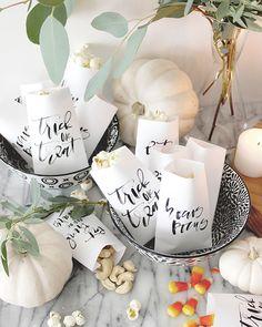 Printable Calligraphy Halloween Favor Bag