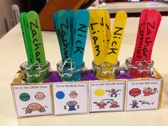 Visual support for the Zones of Regulation