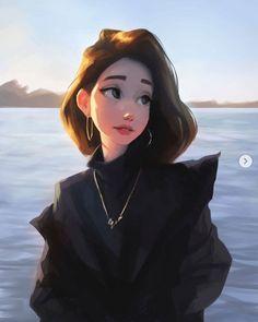 Digital Art Girl, Digital Portrait, Portrait Art, Cartoon Girl Drawing, Girl Cartoon, Art Drawings Sketches, Cute Drawings, Pretty Art, Cute Art