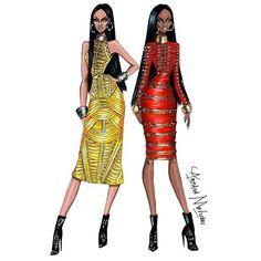 « Rihanna & Naomi Campbell #FashionFriends #Rihanna #NaomiCampbell #FashionIllustration »