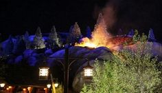 Seven dwarves Mine Train caught fire last night. Fireworks to blame. Great video though. No one hurt.